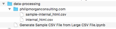 Generate a sample CSV file with x rows from larger CSV