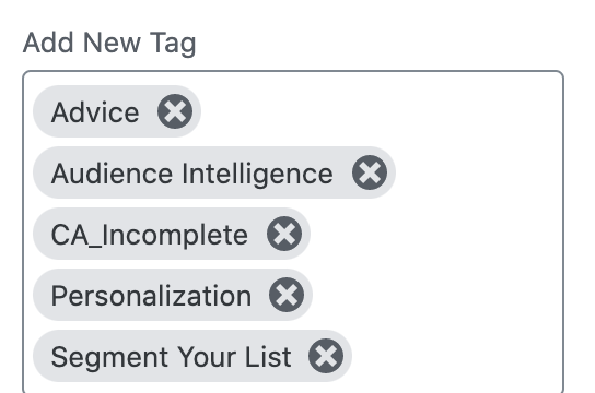 Using tags to organize your content