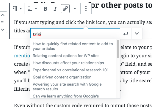 How to quickly find related content to add to your articles